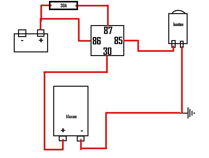 schema branchement relais 12v. Black Bedroom Furniture Sets. Home Design Ideas