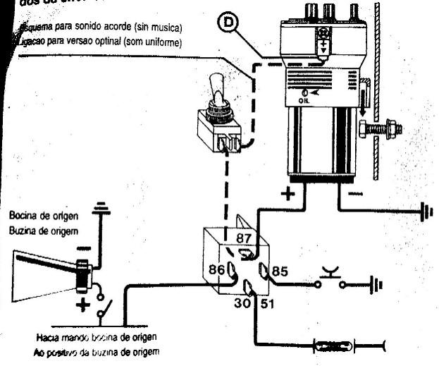 Schema relais klaxon
